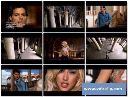 Ricky Martin & Christina Aguilera - Nobody Wants To Be Lonely (2001) (VOB)