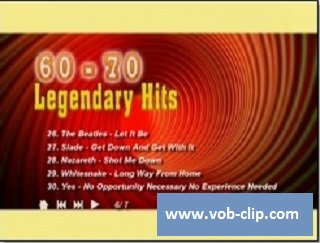 VA - Legendary Hits 60 - 70  (Volume 2) (2014) (DVD9)